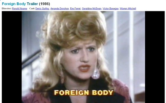 EVE FERRET in Foreign Body 1986